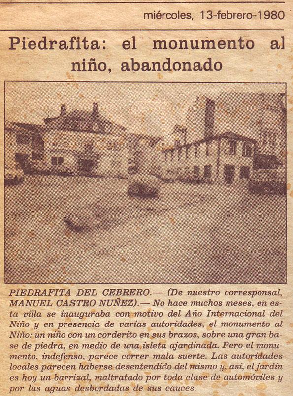 Piedrafita: el monumento al niño, abandonado