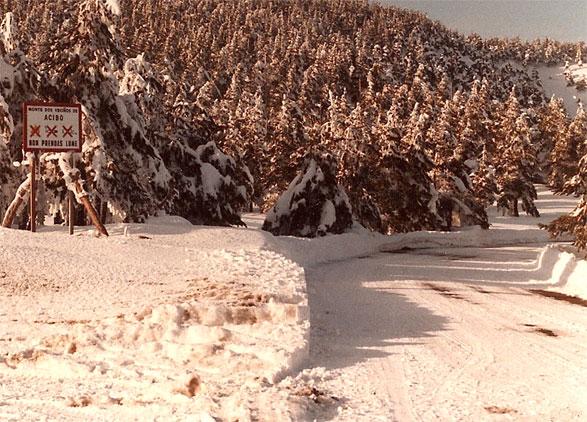 Paisaje nevado que añoramos estos días…