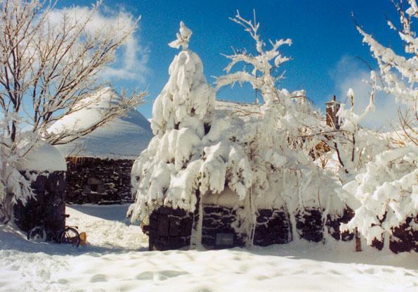 Preciosa nevada en O Cebreiro