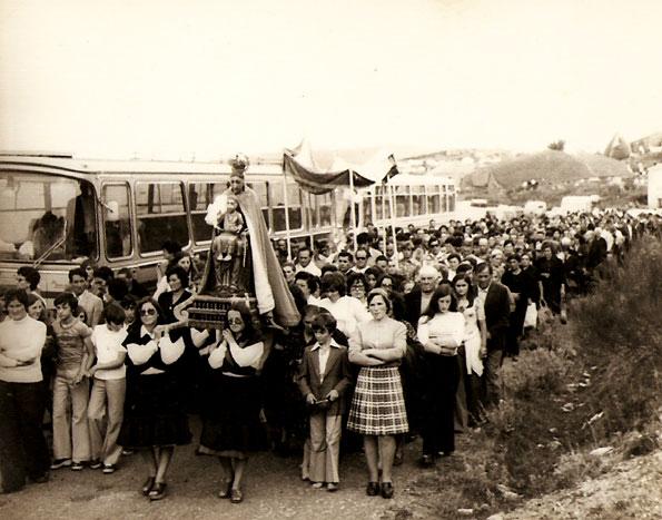 1975: Procesión en O Cebreiro