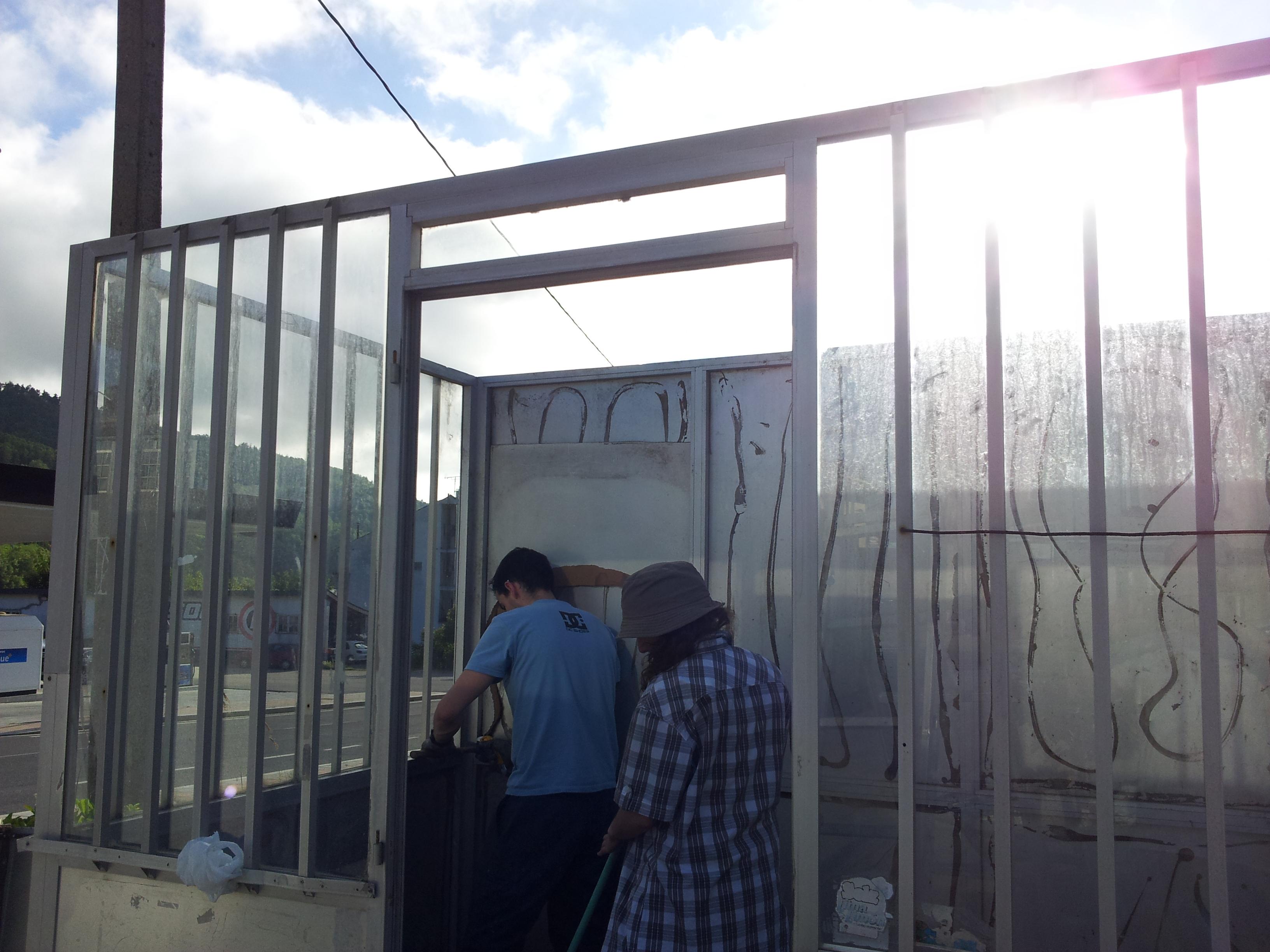 desmantelamiento kiosko