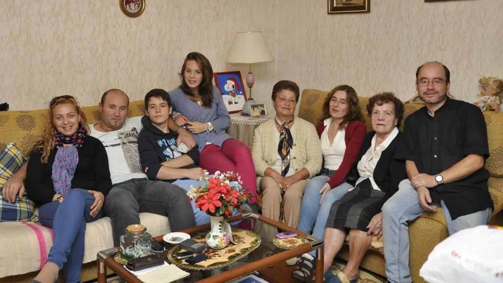 Familia Castro en el San Froilán