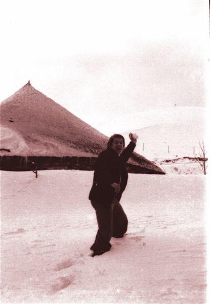 Neve en O Cebreiro